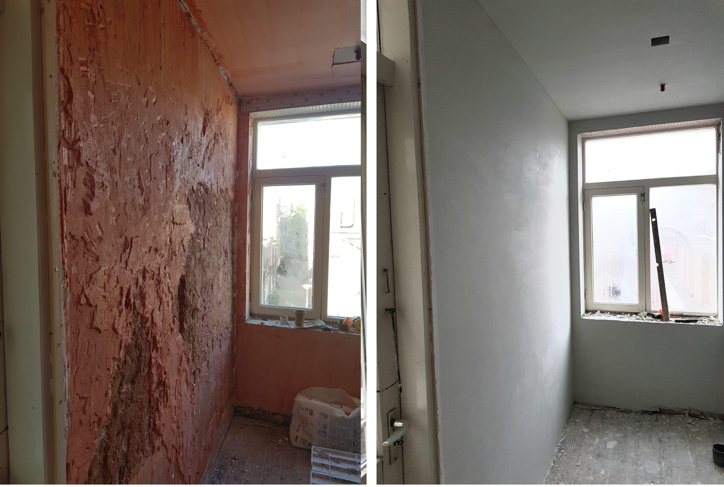 slaapkamer vooraf en achter