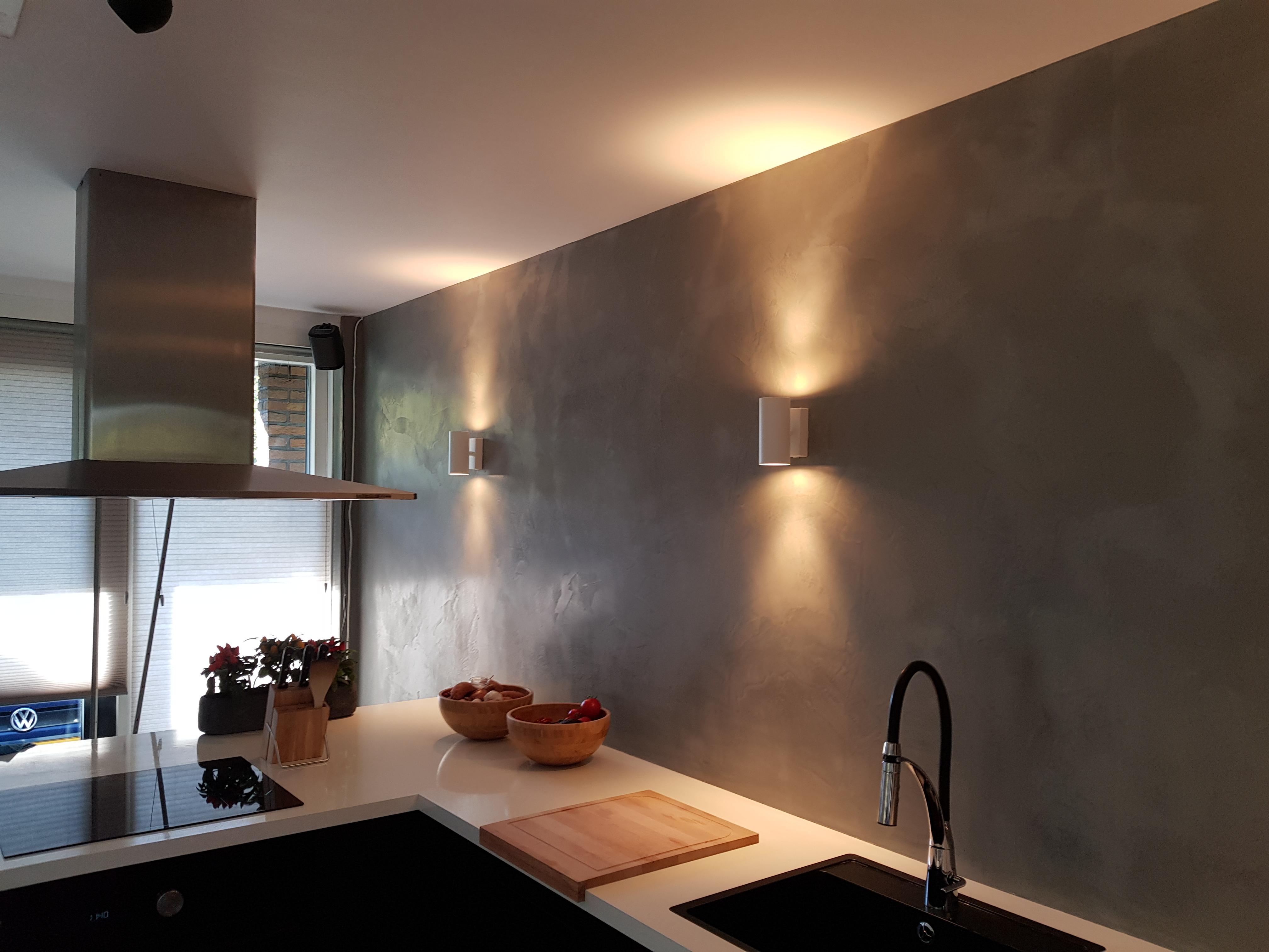 Marmorino in keuken 2