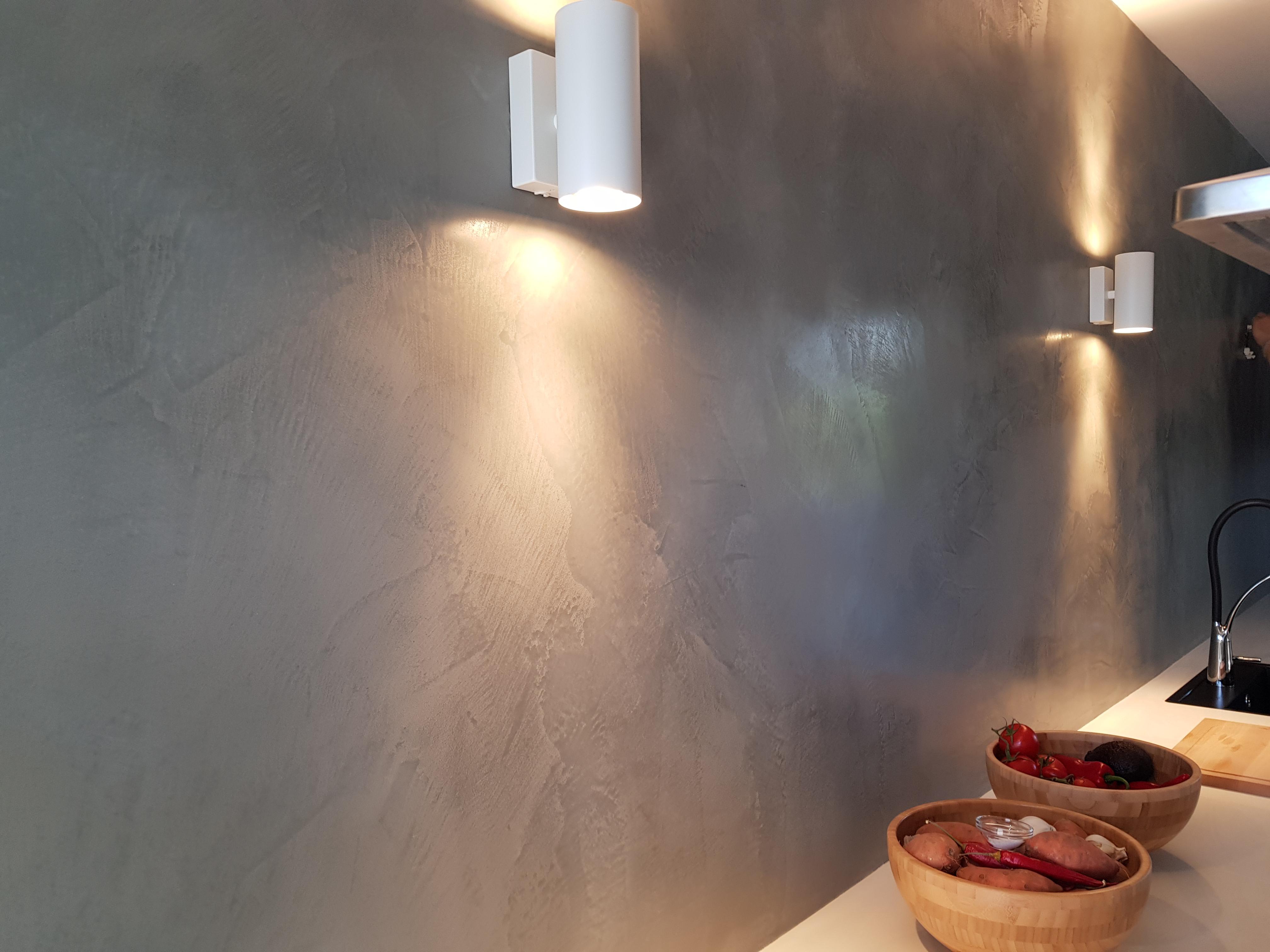 Marmorino in keuken